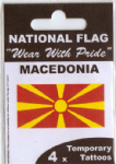 Macedonia Country Flag Tattoos.